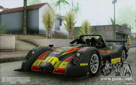 Radical SR3 RS 2009 for GTA San Andreas interior
