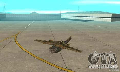 Very nice plane from TimeShift for GTA San Andreas left view