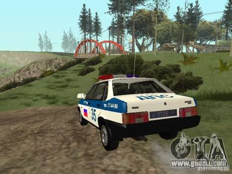 VAZ 21099 DPS for GTA San Andreas back left view