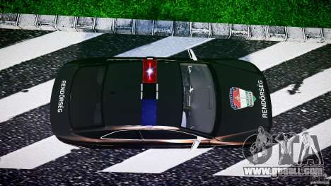 Audi S5 Hungarian Police Car black body for GTA 4 right view