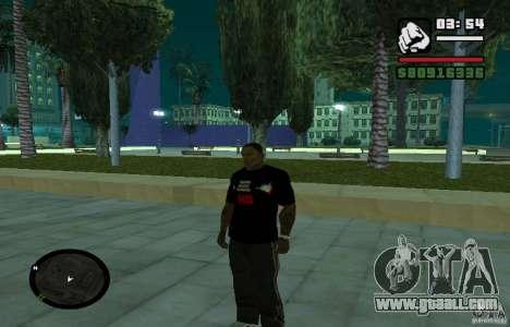 Hard Bass T-shirt. for GTA San Andreas
