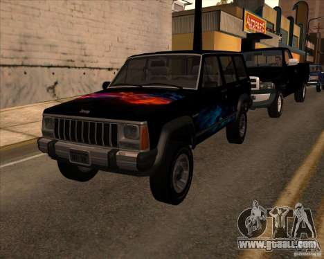 Jeep Cherokee for GTA San Andreas right view
