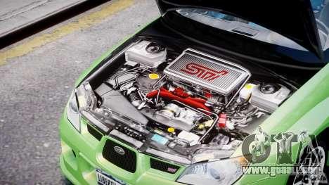 Subaru Impreza STI Wide Body for GTA 4 inner view