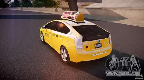 Toyota Prius LCC Taxi 2011 for GTA 4 back left view