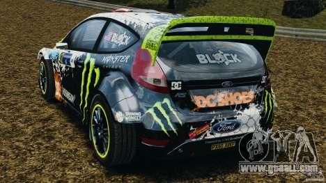 Ford Fiesta RS WRC Gymkhana v1.0 for GTA 4 back left view