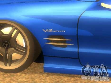Mercedes-Benz SL65 AMG for GTA San Andreas left view