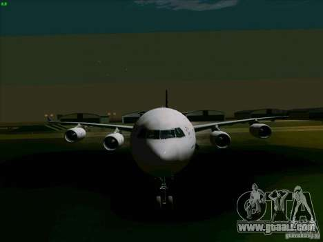 Airbus A-340-600 Singapore for GTA San Andreas back view