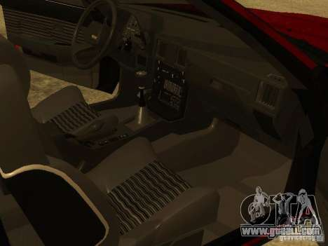 Toyota Celica Supra for GTA San Andreas bottom view