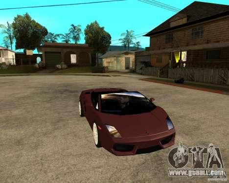 Lamborghini Gallardo LP560-4 Spyder for GTA San Andreas back view