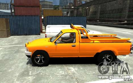 Toyota Hilux 1989-1993 Single cab v1 for GTA 4 left view