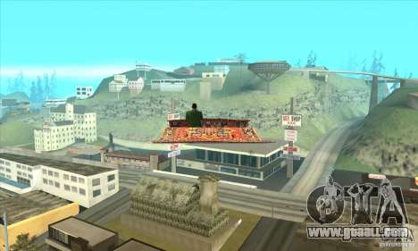 Flying Carpet v.1.1 for GTA San Andreas right view