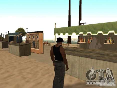 Market on the beach for GTA San Andreas seventh screenshot