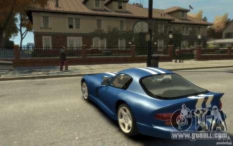 Dodge Viper GTS for GTA 4 back left view