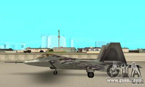 YF-22 Starscream for GTA San Andreas left view