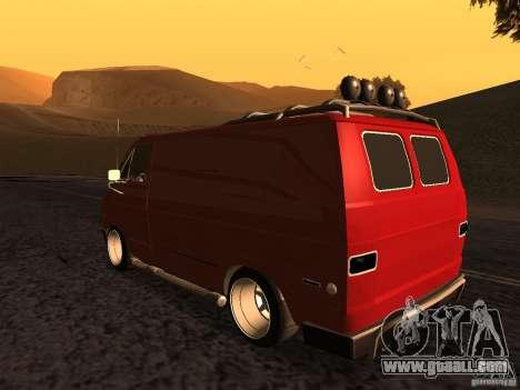 Dodge Tradesman 1976 Tuned for GTA San Andreas left view