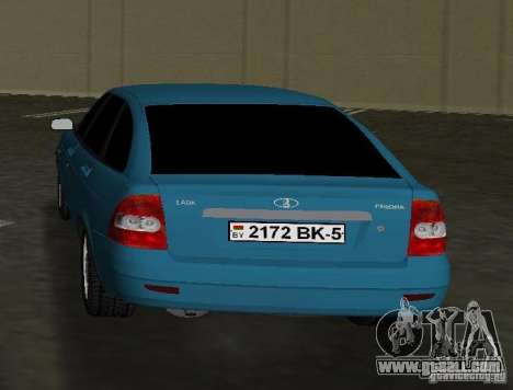 Lada Priora Hatchback for GTA Vice City back left view