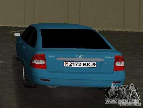 Lada Priora Hatchback for GTA Vice City back left view