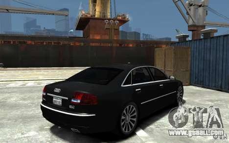 Audi A8L W12 Quattro for GTA 4 right view