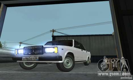 Vaz 2107 Stock v.2 for GTA San Andreas right view