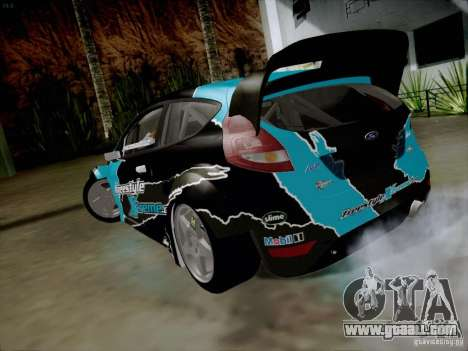 Ford Fiesta RS for GTA San Andreas back left view