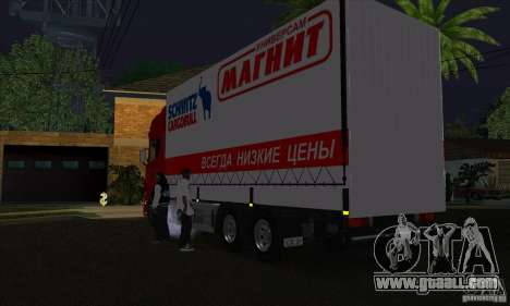 Scania R620 MAGNET for GTA San Andreas back left view