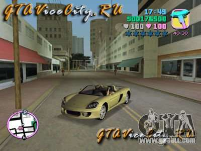 Porsche Carrera GT for GTA Vice City