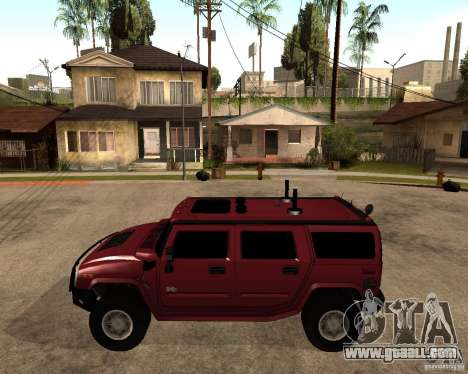 Hummer H2 SE for GTA San Andreas left view