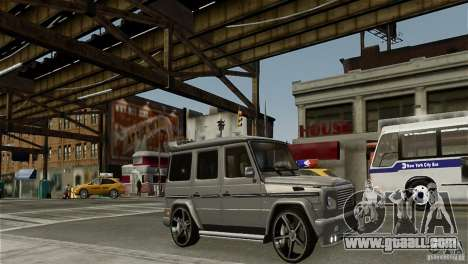 Mercedes-Benz G500 for GTA 4 back left view