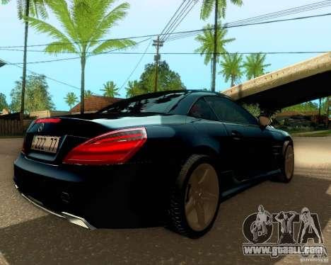 Mercedes-Benz SL350 2013 for GTA San Andreas interior