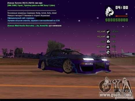 Starry sky v2.0 (for SA: MP) for GTA San Andreas eighth screenshot