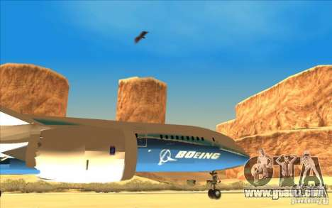 Boeing 787 Dreamlinear for GTA San Andreas right view