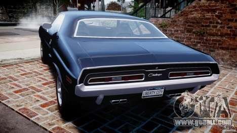 Dodge Challenger 1971 RT for GTA 4 back left view
