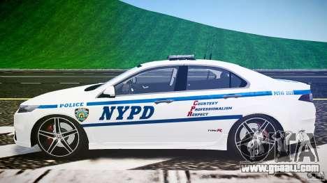 Honda Accord Type R NYPD (City Patrol 2322) ELS for GTA 4 inner view