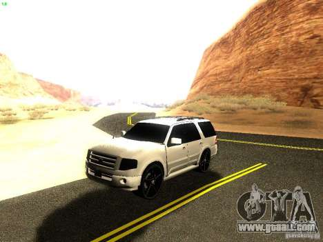 Ford Expedition 2008 for GTA San Andreas inner view