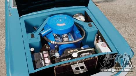 Ford Mustang Customs 1967 for GTA 4 inner view