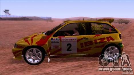 Seat Ibiza Rally for GTA San Andreas right view
