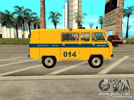 UAZ 2206 Police for GTA San Andreas back left view