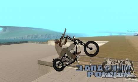 HD Shovelhead Chopper v2.1-chrome for GTA San Andreas right view
