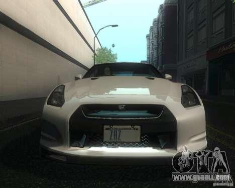 Nissan GTR R35 Spec-V 2010 Stock Wheels for GTA San Andreas side view