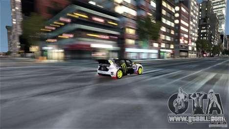 Subaru Impreza WRX STI Rallycross Monster Energy for GTA 4 inner view