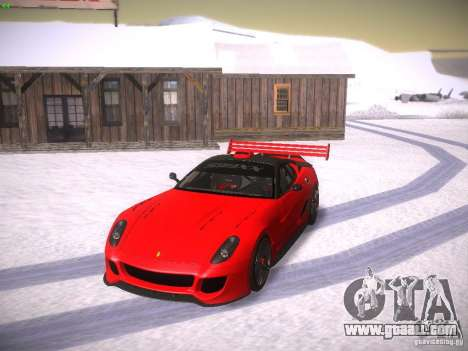 Ferrari 599XX for GTA San Andreas upper view