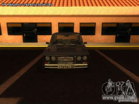 VAZ 2106 for GTA San Andreas interior