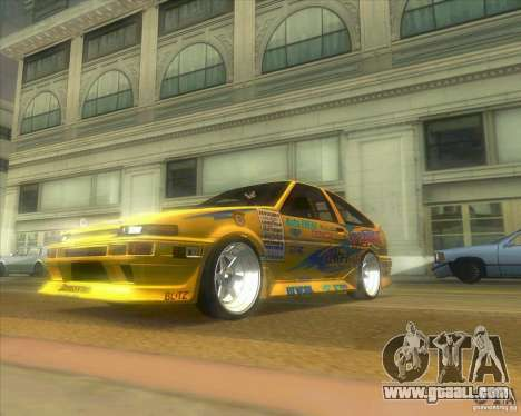 Ae86 tuned by Xavier for GTA San Andreas back left view