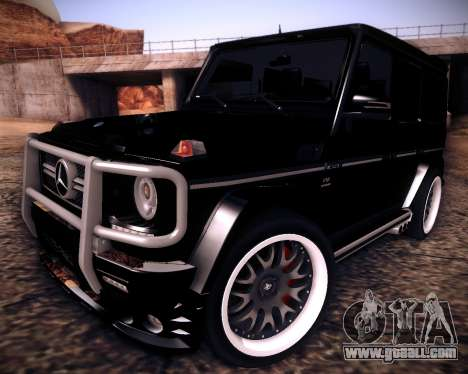 Mercedes-Benz G65 AMG 2013 Hamann for GTA San Andreas back left view