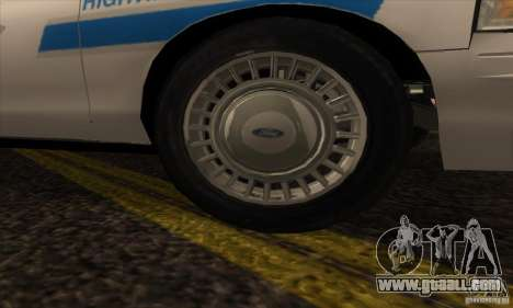 Ford Crown Victoria Arizona Police for GTA San Andreas right view
