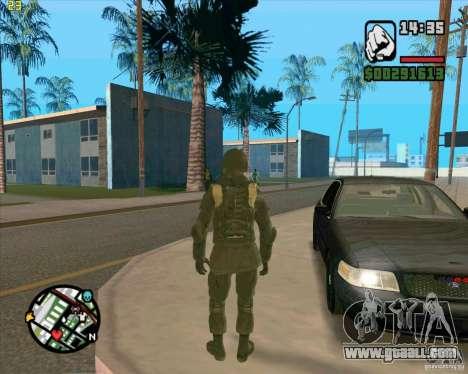 Skin SAS for GTA San Andreas forth screenshot