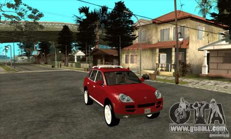 Porsche Cayenne Turbo for GTA San Andreas back view