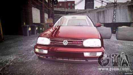 Volkswagen Golf MK3 GTI for GTA 4 inner view
