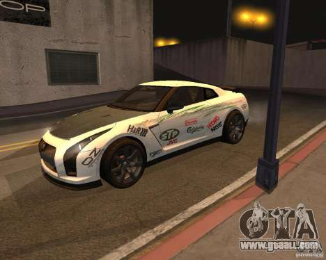 Nissan GT-R Pronto for GTA San Andreas side view