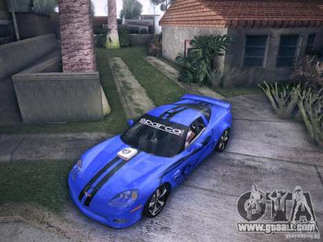 Chevrolet Corvette C6 Z06 Tuning for GTA San Andreas upper view